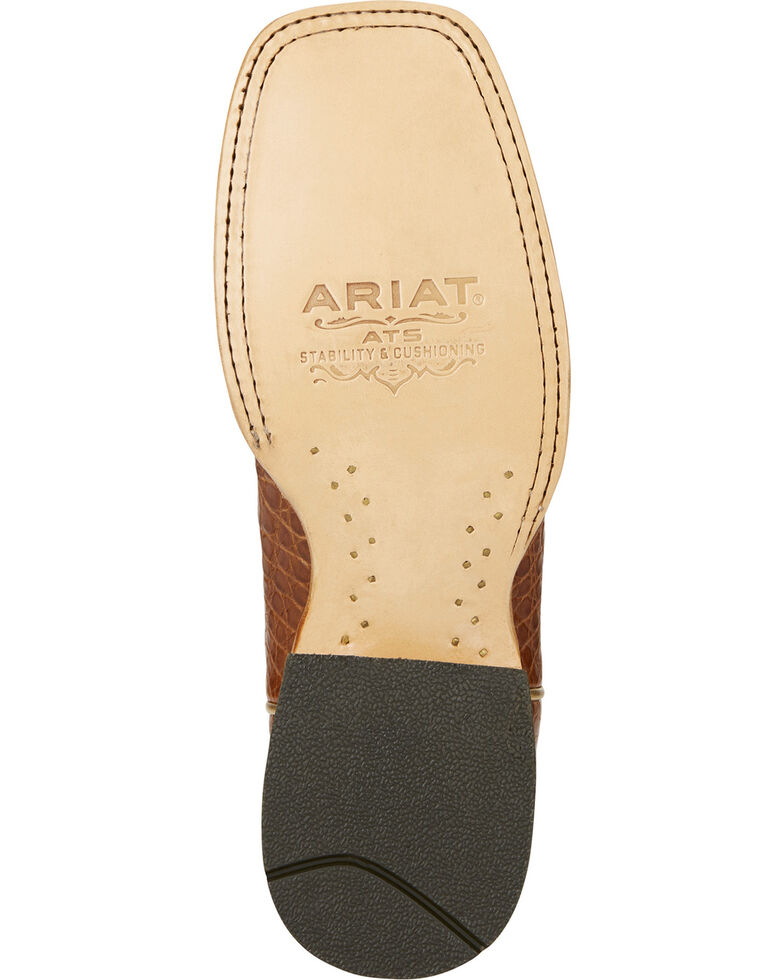 Ariat Women's Silverado Brown Caiman Cowgirl Boots - Square Toe, Brown, hi-res