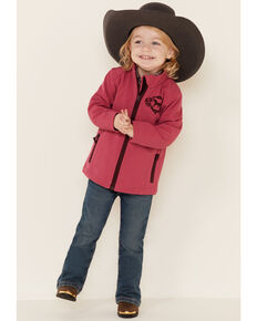 Shyanne Toddler Girls' Pink Softshell Fleece Jacket , Pink, hi-res