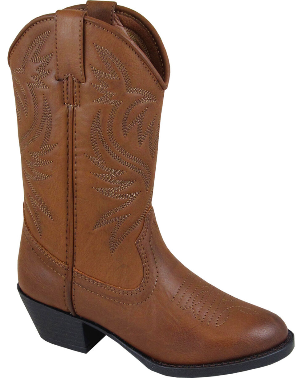 Smoky Mountain Boys' Trenton Western Boots - Round Toe, Brown, hi-res
