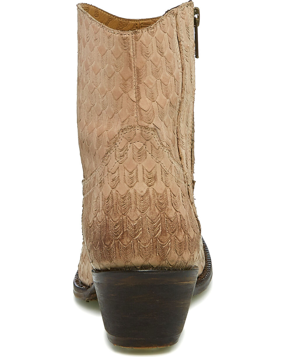 Tony Lama Women's Arrows Western Booties - Round Toe, Tan, hi-res
