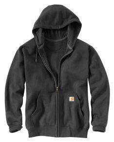 Carhartt Rain Defender Paxton Zip Front Work Hoodie - Big & Tall, Dark Grey, hi-res