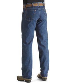 "Wrangler Jeans - 13MWZ Original Fit Premium Wash Stonewash - Big 44""- 50"" Waist, Blue, hi-res"