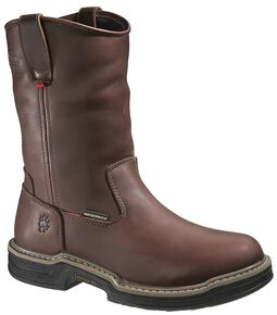 Wolverine Darco Wellington Work Boots - Steel Toe, Brown, hi-res