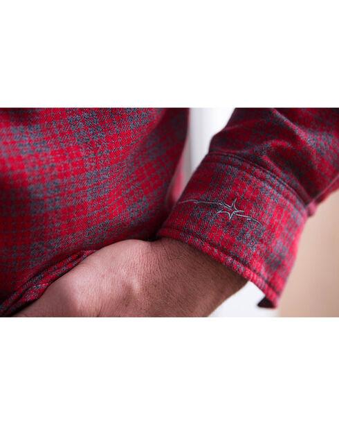 Ryan Michael Men's Red Mountain Jaspe Plaid Shirt , Red, hi-res