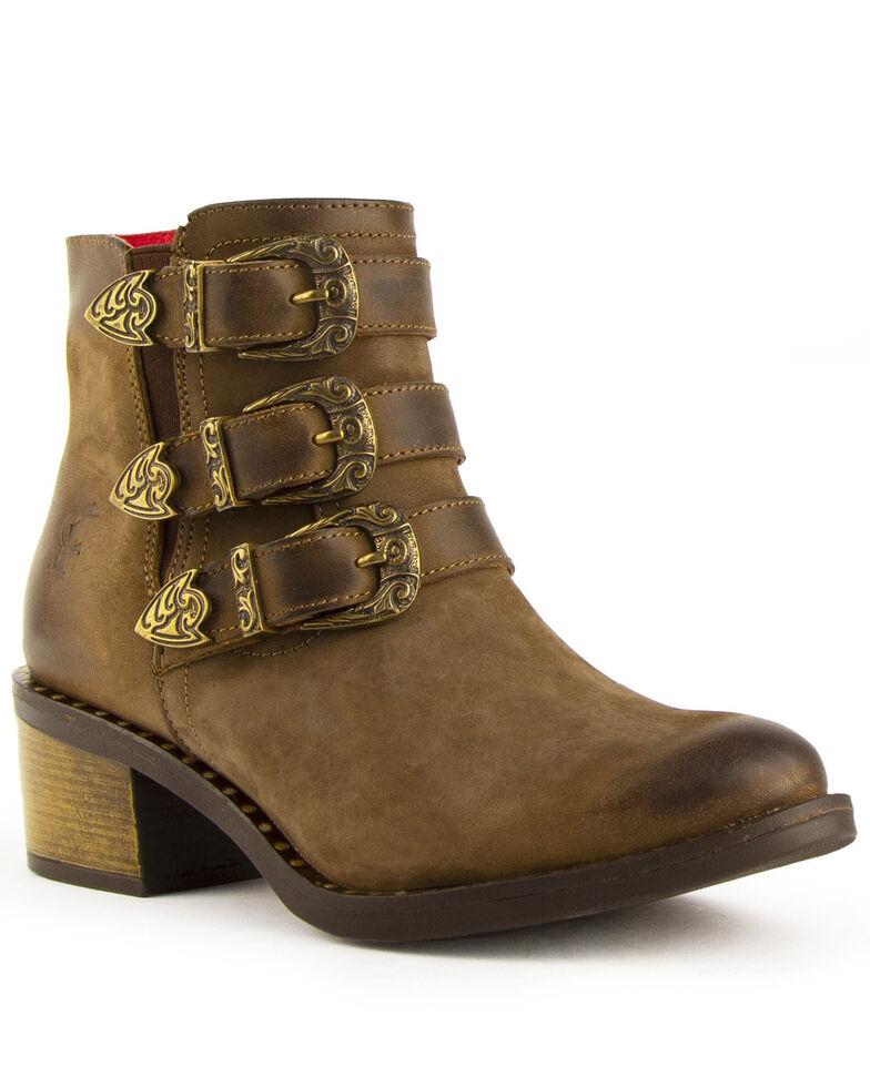Ferrini Women's Mollie Fashion Booties - Round Toe, Brown, hi-res