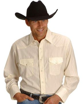 Wrangler Western Shirt, Cream, hi-res
