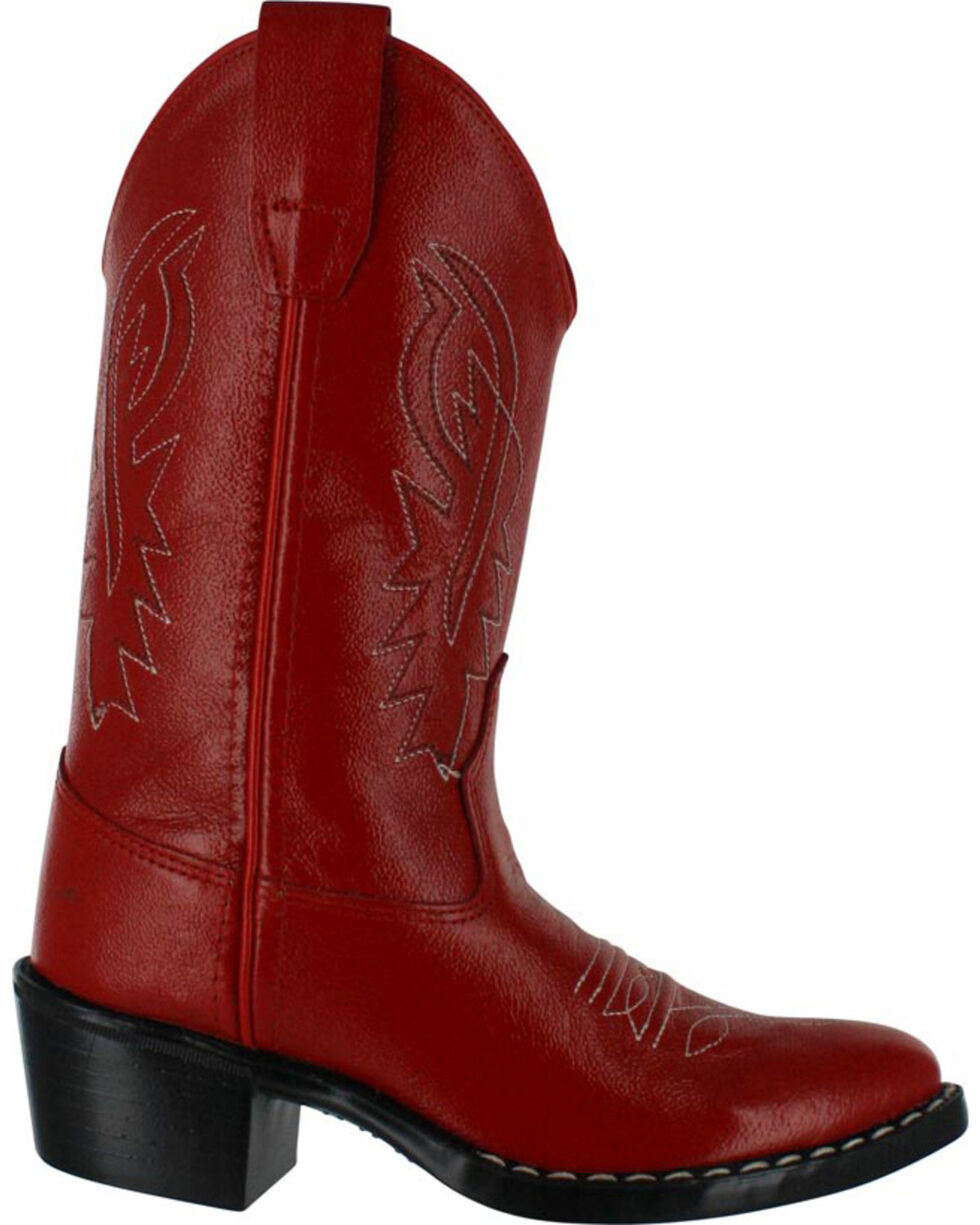 Cody James Boys' Western Boots - Pointed Toe, Red, hi-res