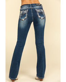 "Grace in LA Women's Medium Paisley 32"" Bootcut Jeans, Blue, hi-res"