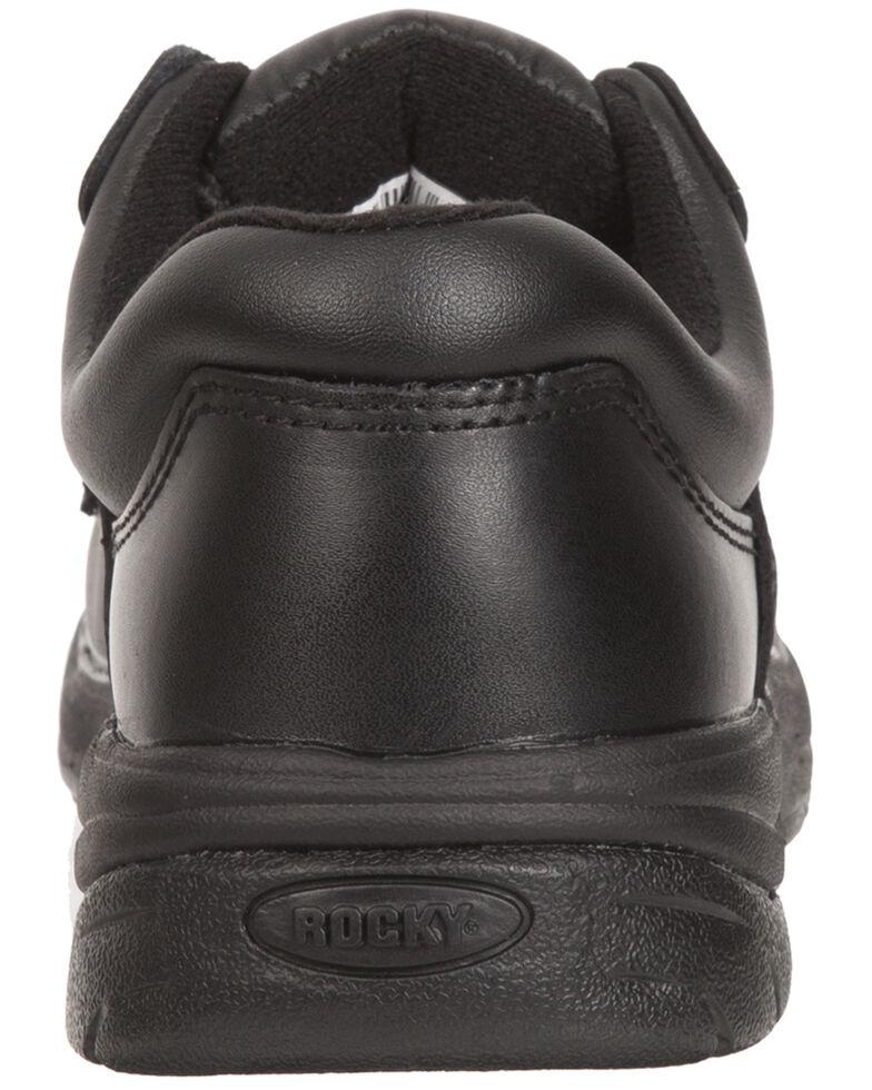 Rocky Women's SlipStop Plain Toe Oxford Duty Shoes, Black, hi-res