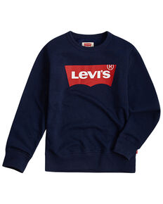 Levis Boys' Dress Blues Batwing Pullover Sweater , Navy, hi-res