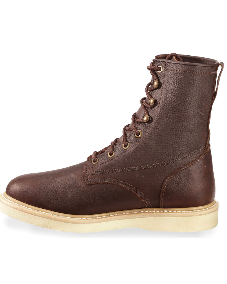 """Justin Men's Axe 8"""" Light Duty Lace-Up Work Boots - Soft Toe, , hi-res"""