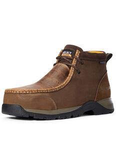 Ariat Men's Croc Print Moc Work Boots - Composite Toe, Brown, hi-res