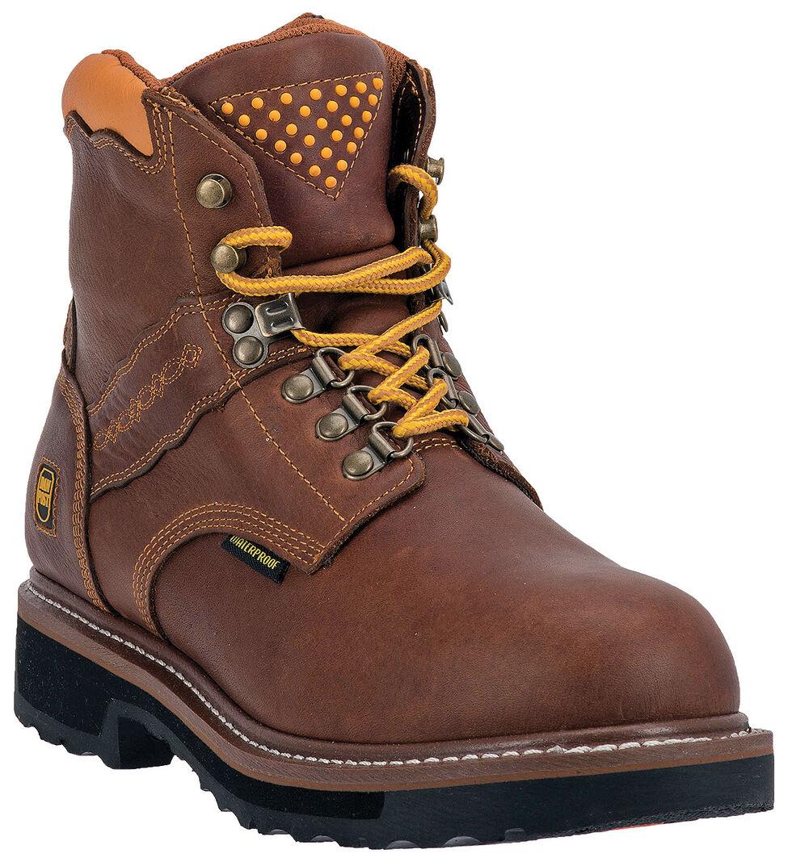 Dan Post Gripper Zipper Waterproof Lacer Boots - Alloy Toe, Brown, hi-res