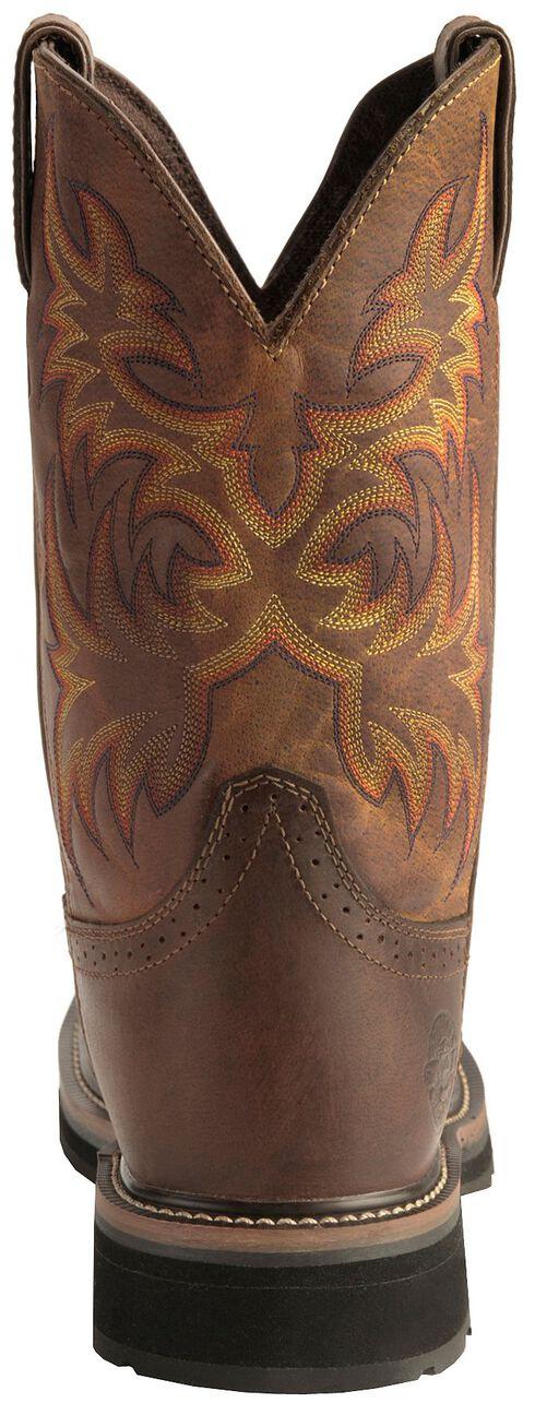 Justin Stampede Work Boots - Steel Toe, Tan, hi-res