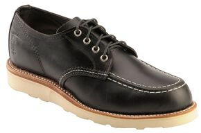 Chippewa Men's Black Whirlwind Oxford Shoes, Black, hi-res