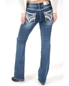 Grace in LA Women's Medium Wash Chandelier Bootcut Jeans, Blue, hi-res