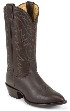 Nocona Deertan Cowboy Boots - Medium Toe, Brown, hi-res