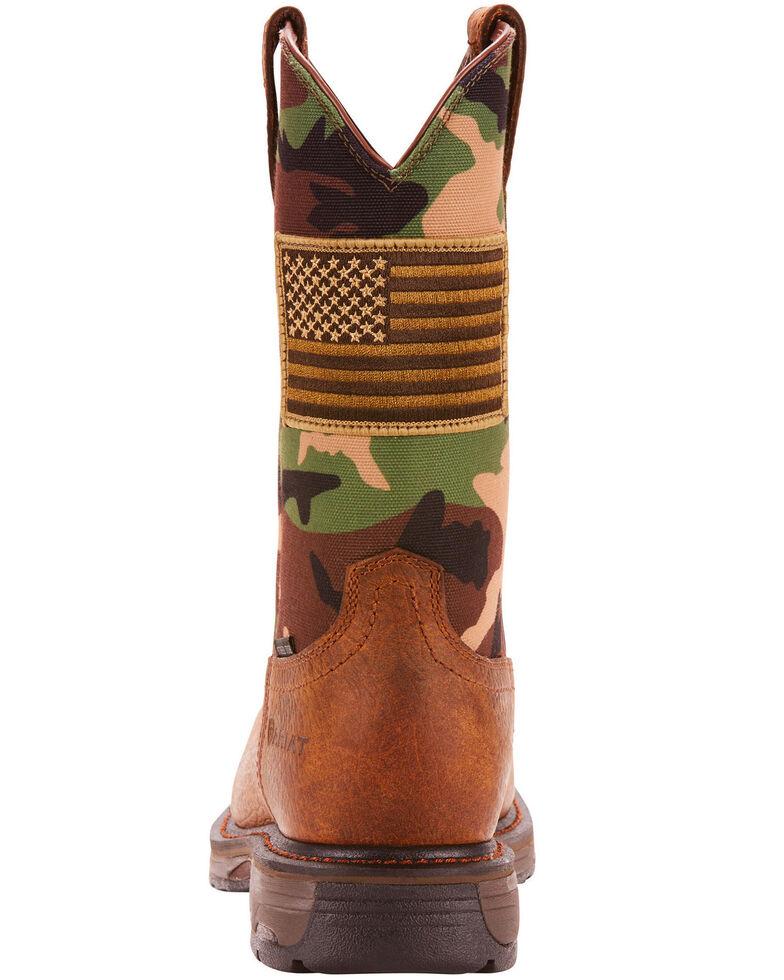 Ariat Men's WorkHog Patriot Work Boots - Steel Toe, Camouflage, hi-res