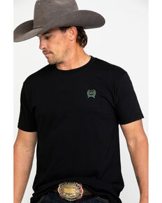 Cinch Men's Black Logo Graphic T-Shirt , Black, hi-res