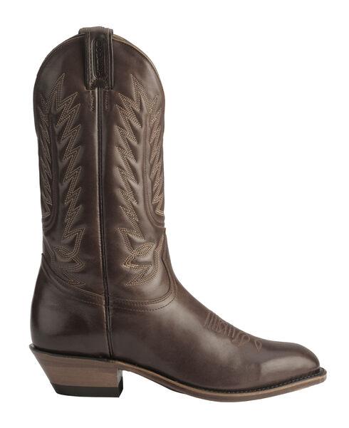 Boulet Dress Cowboy Boots - Round Toe, Tan, hi-res