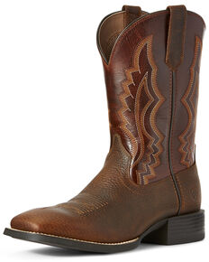 Ariat Men's Sport Riggin Western Boots - Wide Square Toe, Rust Copper, hi-res