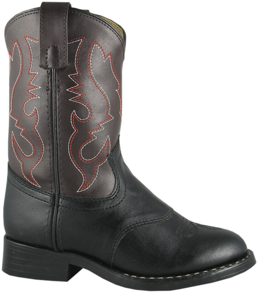 Smoky Mountain Youth Boys' Diego Western Boots - Round Toe, Black, hi-res