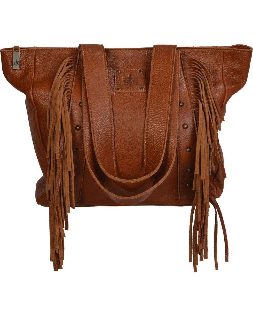 STS Ranchwear Saddle Brown Annie Oakley Tote , Tan, hi-res