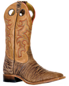Boulet Men's Rio Brown Western Boots - Wide Square Toe, Brown, hi-res