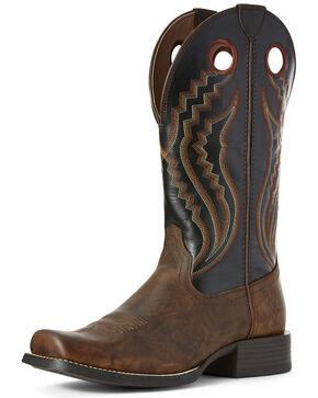Ariat Men's Black Sport Picket Line Western Work Boots - Square Toe, Brown, hi-res