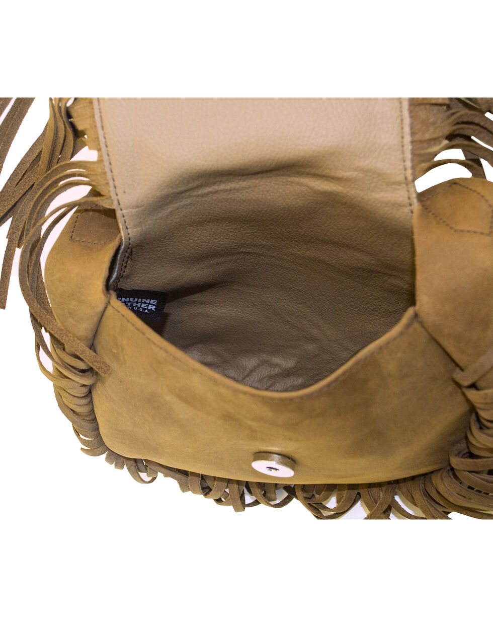Western Express Women's Brown Embroidered Rose Purse , Brown, hi-res