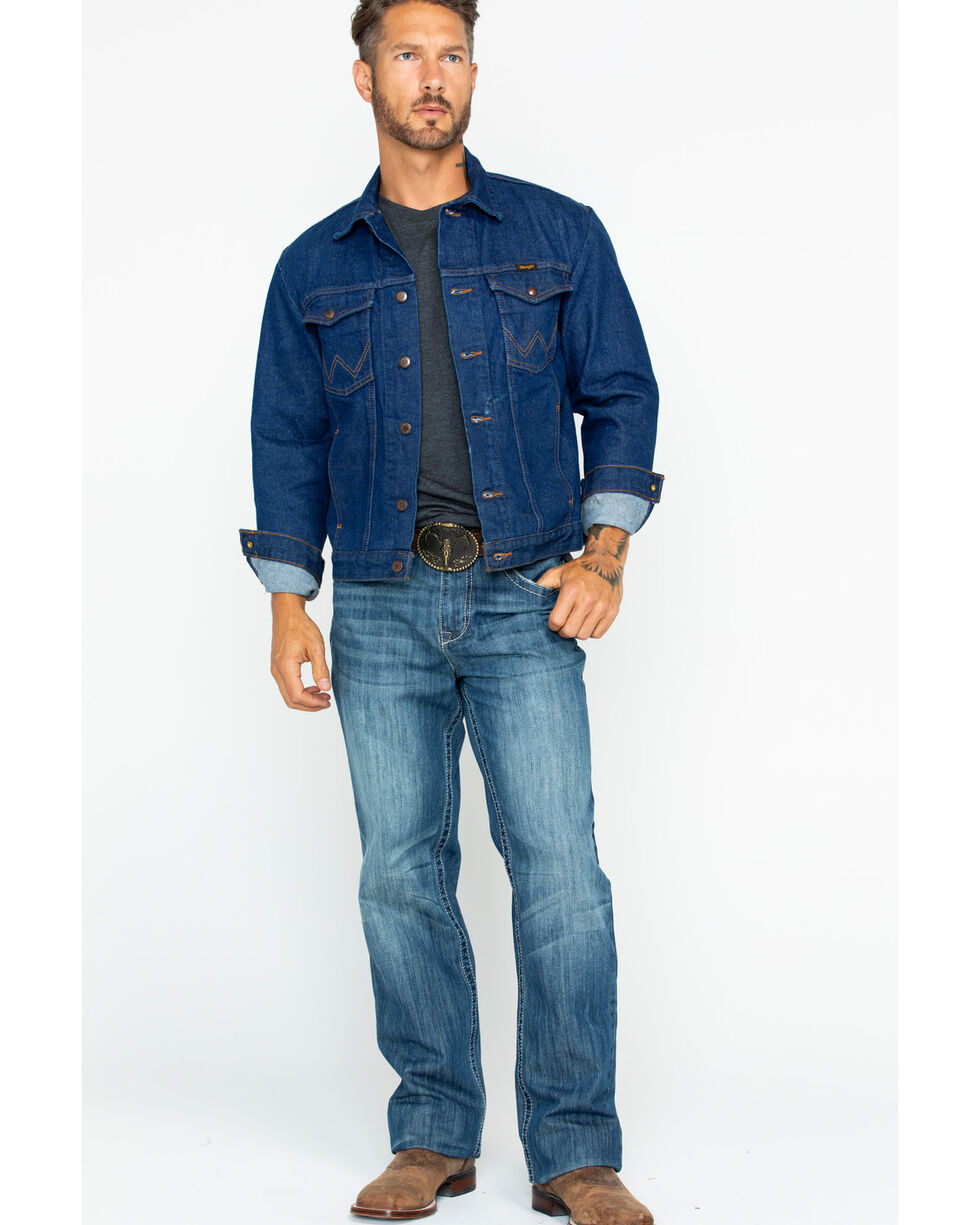 Wrangler Denim Jean Jacket, Indigo, hi-res