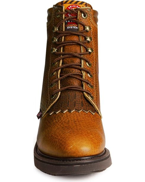 "Justin Original 6"" Lace-Up Work Boots, Copper, hi-res"