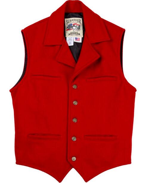 Schaefer Men's 805 Cattle Baron Vest Red, Red, hi-res