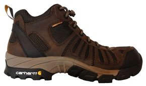 Carhartt Lightweight Waterproof Hiking Boots - Composition Toe, Brown, hi-res
