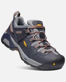 Keen Men's Detroit XT Waterproof Work Boots - Steel Toe, Brown/blue, hi-res