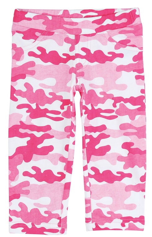 Wrangler Infant Girls' Pink Camo Leggings, Pink, hi-res
