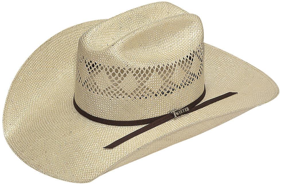 Twister Men's 8X Sisal Straw Cowboy Hat, Natural, hi-res