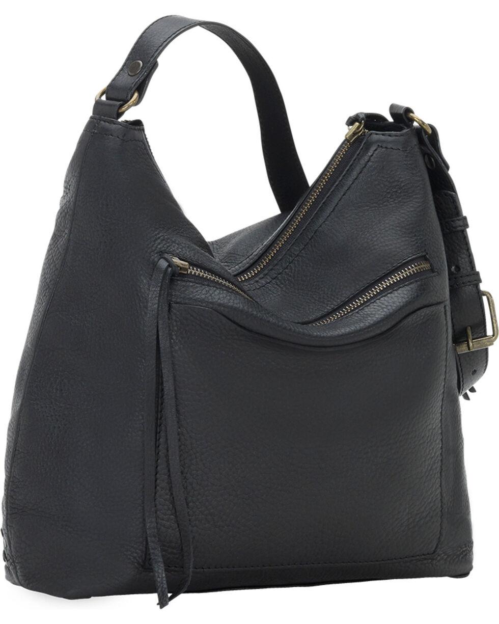 TrueLu Women's Black Emily Hobo Bag , Black, hi-res