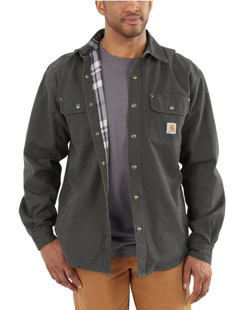 Carhartt Canvas Work Shirt Jacket - Big & Tall, Bark, hi-res