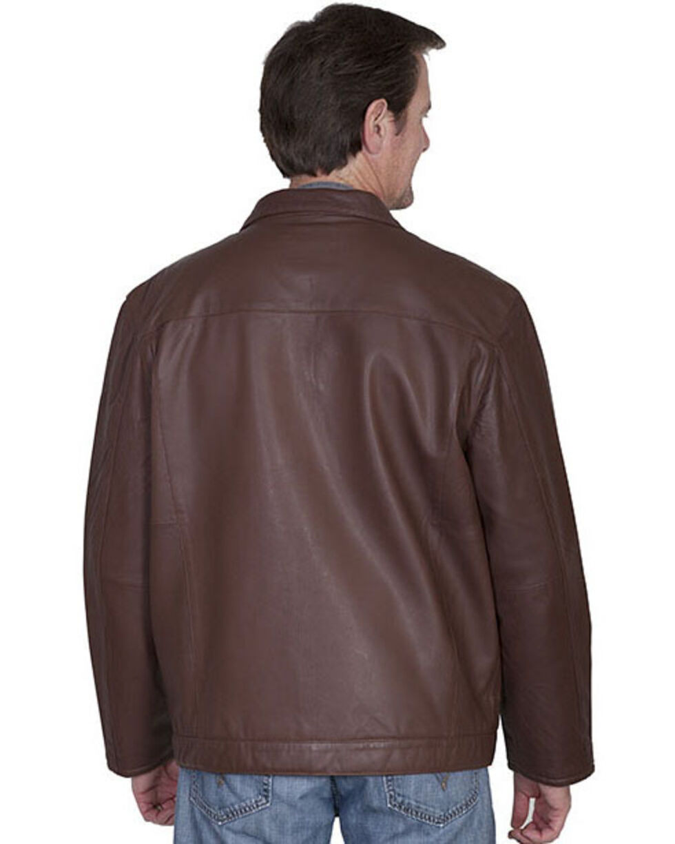 Scully Premium Lambskin Zip Front Jacket, Dark Brown, hi-res