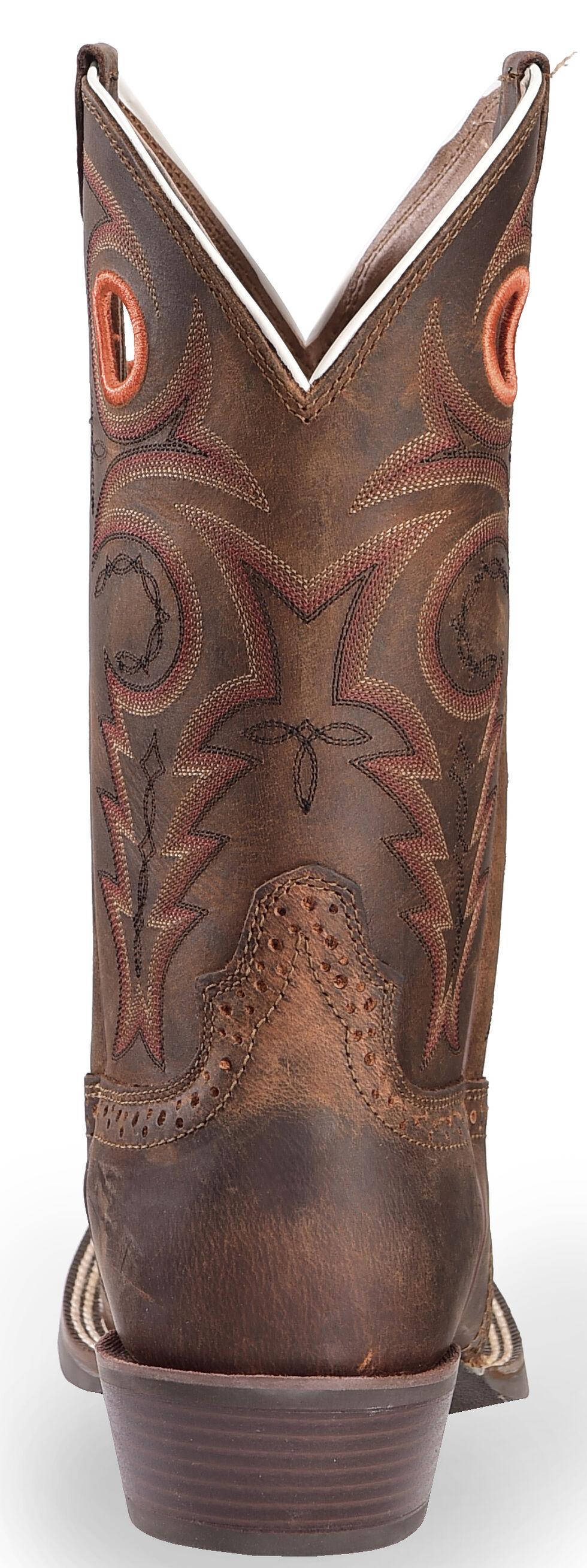 Justin Silver Saddle Vamp Cowboy Boots - Square Toe, Whiskey, hi-res