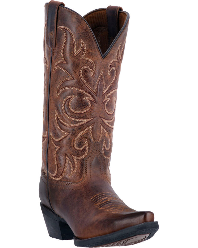Laredo Maddie Distressed Cowgirl Boots  - Snip Toe, Rust, hi-res