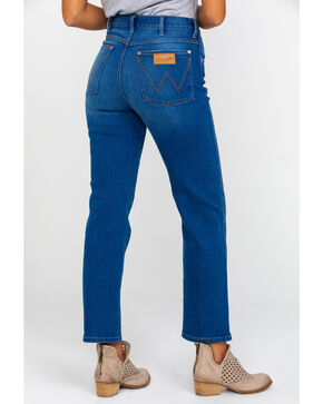 Wrangler Women's Blue Lagoon Hertiage High Rise Crop Jeans , Blue, hi-res