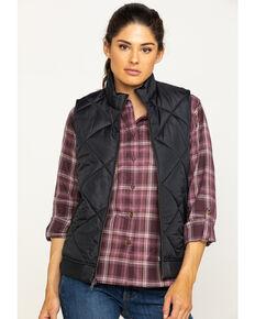 Dickies Women's Quilted Vest, Black, hi-res