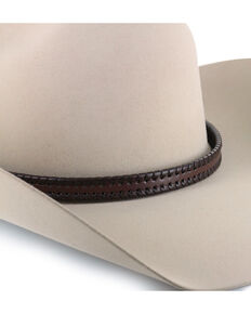 Cody James Leather Braided Hat Band , Chocolate, hi-res