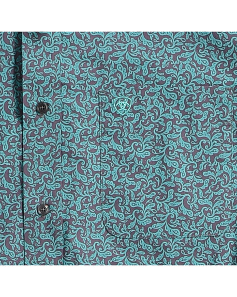 Ariat Men's Blue Aromas Print Western Shirt , Blue, hi-res