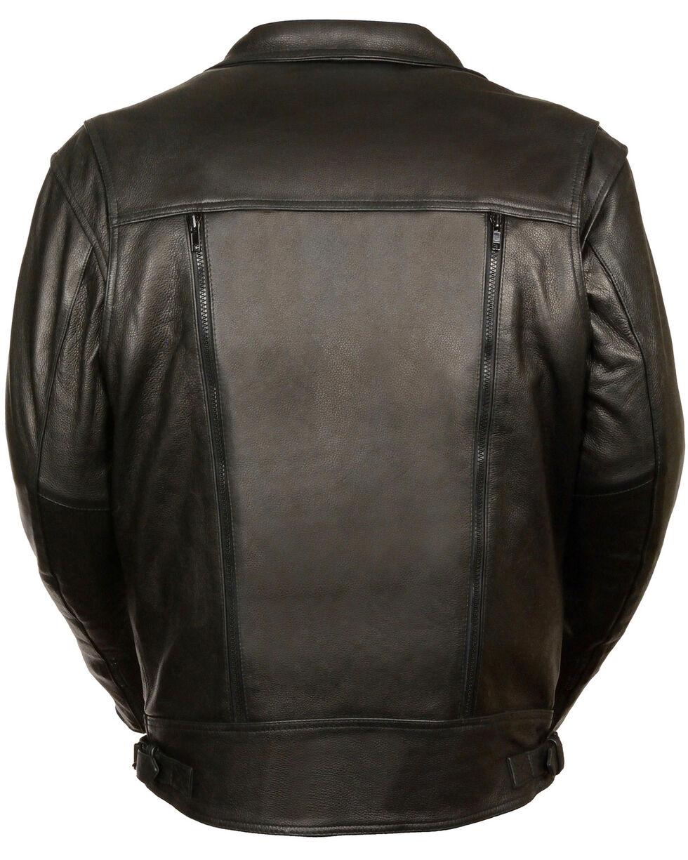 Milwaukee Leather Men's Utility Pocket Motorcycle Jacket - 4X, Black, hi-res