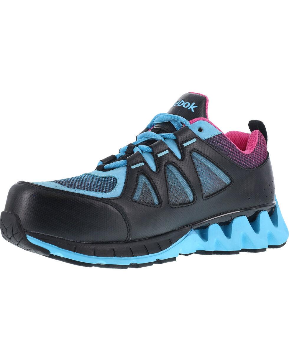 Reebok Women's Zigkick Althetic Oxford Work Shoes , Black, hi-res