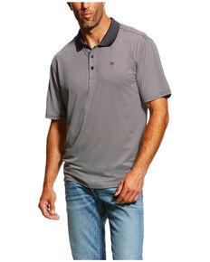 50a464eb Ariat Mens Black TEK Micro Stripe Polo Shirt , Black, hi-res