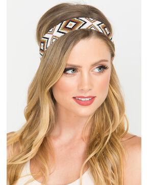 Shyanne Women's Diamond Beaded Headband, White, hi-res